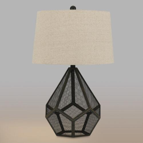 Black Mesh Mason Table Lamp