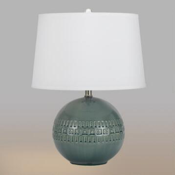 Slate Blue Ceramic Ava Table Lamps Set of 2