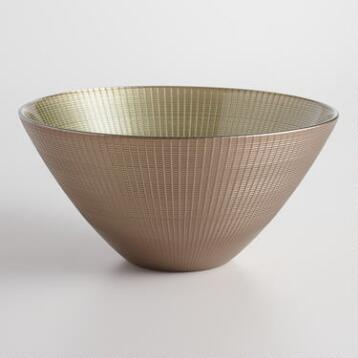 Bronze Glass Serving Bowl
