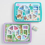 Dinner Winner Kids' Melamine Dinner Trays Set of 2
