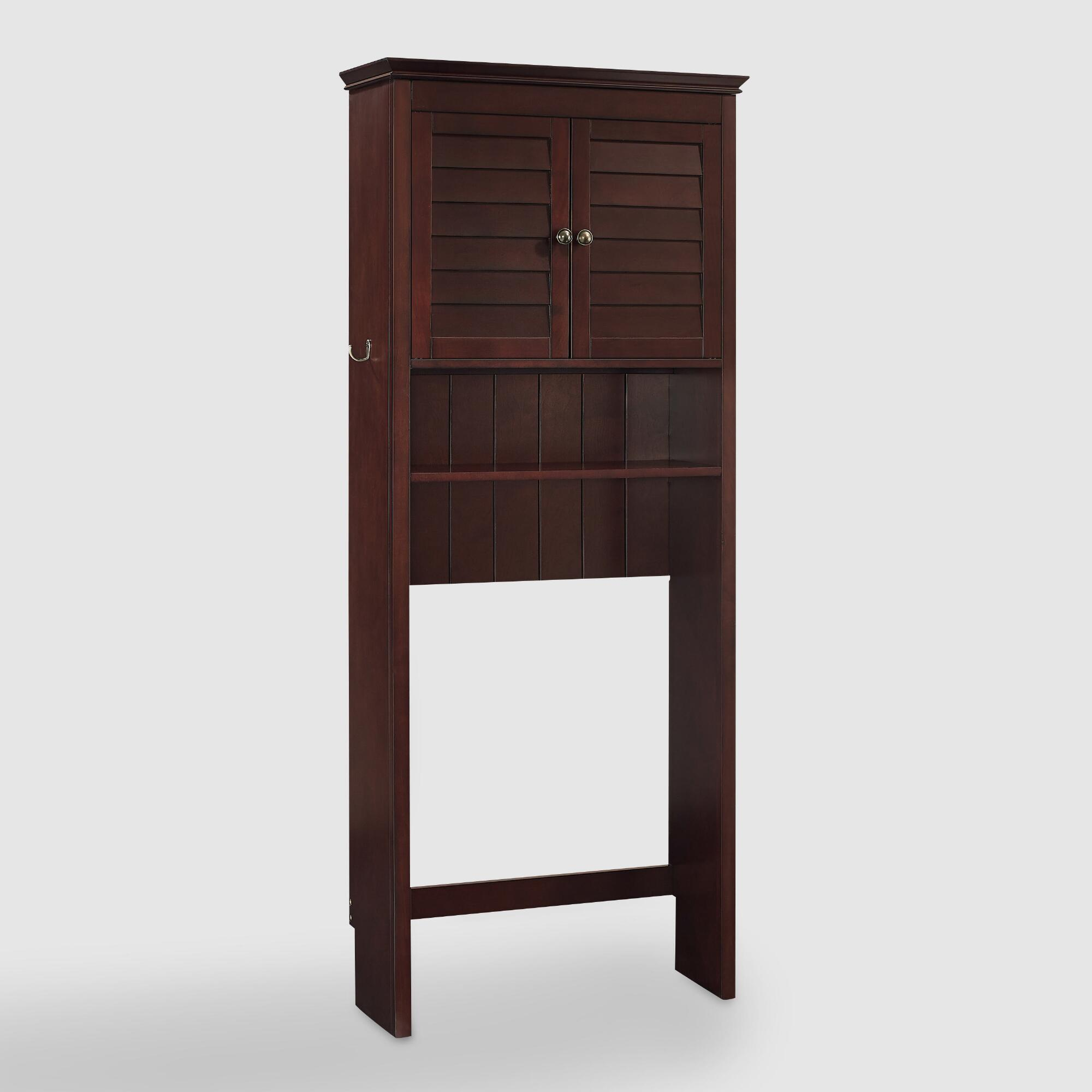Espresso Wood Maryella Bathroom Space Saver Cabinet World Market