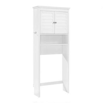 White Wood Maryella Bathroom Space Saver Cabinet