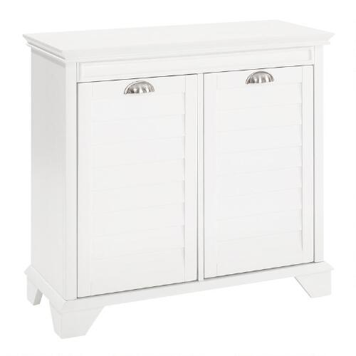White Wood Maryella Double Hamper