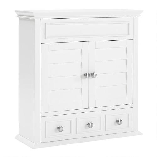 White Wood Maryella Bathroom Medicine Cabinet