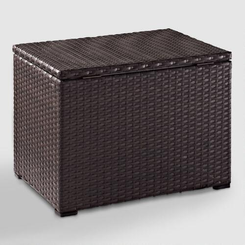 Espresso All Weather Wicker Pinamar Outdoor Cooler