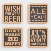 Cork Beer Coasters Set of 4