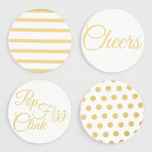 Cardboard Cheers Coasters Set of 8