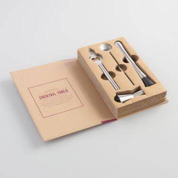 Hostess Book of Cocktail Tools Set of 4