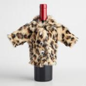 Leopard Coat Wine Bottle Outfit