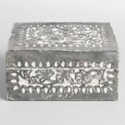 Graywash Carved Ishani Jewelry Box