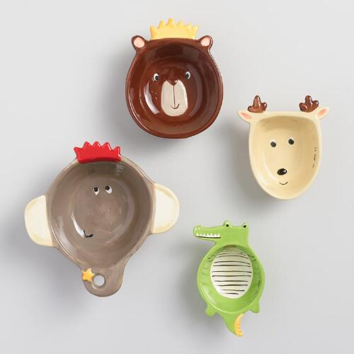 Holiday Animals Ceramic Measuring Cups
