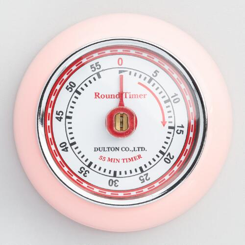 Pink Retro Magnetic Timer