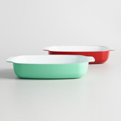 Creo SmartGlass Retro Ceramic Bakers Set of 2