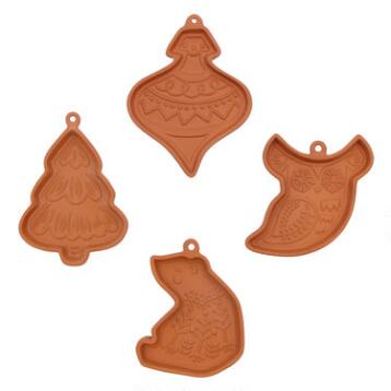 Terracotta Cookie Molds Set of 4