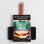 Nonstick Steel Grilled Cheese Basket and Recipe Book Kit