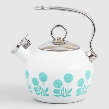 Steffi Floral Enamel on Steel Tea Kettle