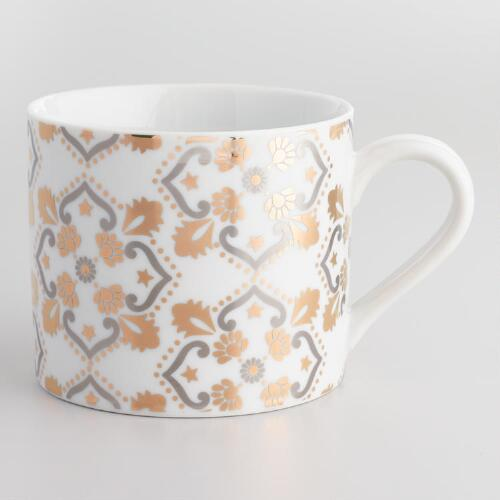 Metallic Party Tile Mugs Set of 4