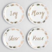 Metallic Sentimental Sayings Plates Set of 4