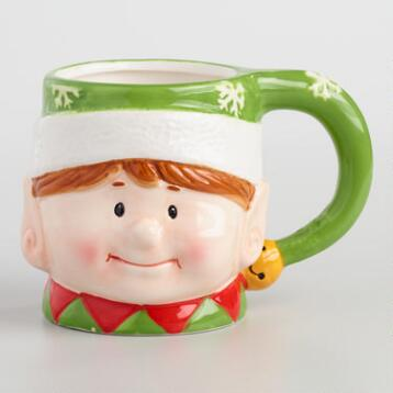 Holiday Elf Mugs Set of 4