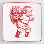 Santa's Coming Square Plate Set of 4