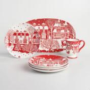 Winter Scene Santa Dinnerware Collection
