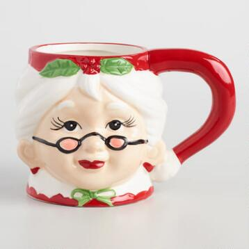 Mrs. Claus Christmas Mugs Set of 4