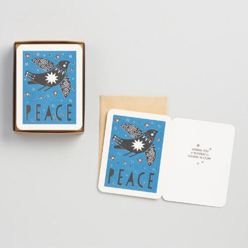 Silver Dove Holiday Cards Set of 8