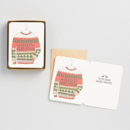 Ugly Sweater Holiday Cards Set of 8