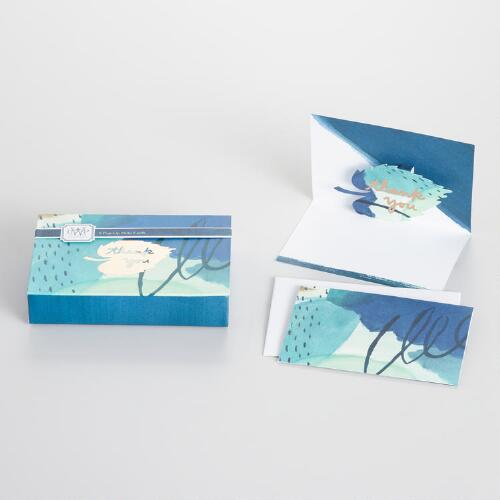 Watercolor Pop-Up Thank You Cards Set of 8