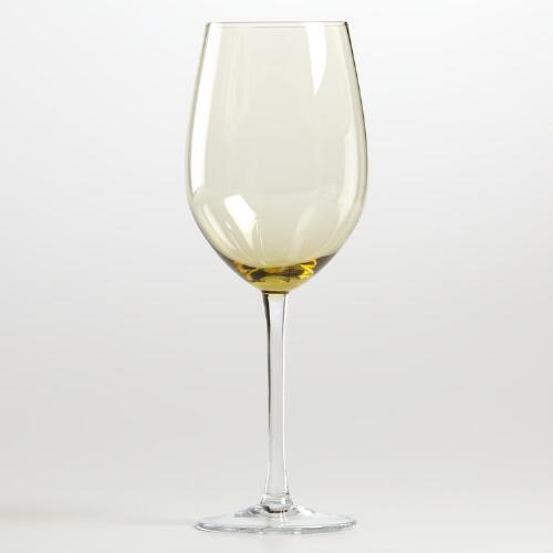 Jubilee Amber Red Wine Glass Set of 4