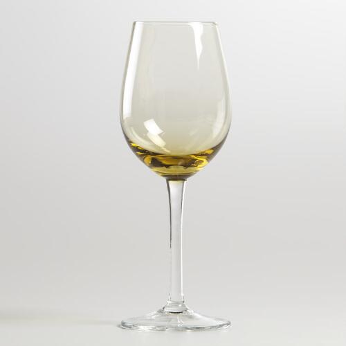 Jubilee Amber White Wine Glass Set of 4