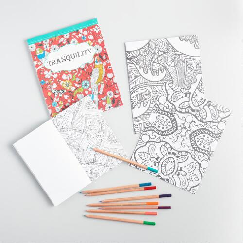 Tranquility Keepsake Coloring Book Tin