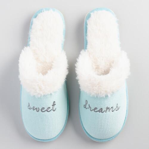 Sweet Dreams Velvet Slippers