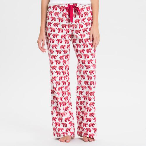 Elephant Flannel Pajama Pants