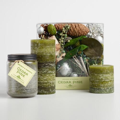 Cedar Pine Candle Collection