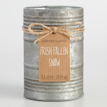 Fresh Fallen Snow Antiqued Candle Tin