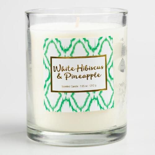 White Hibiscus and Pineapple Gemma Boxed Jar Candle