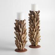 Driftwood Pillar   Candleholder