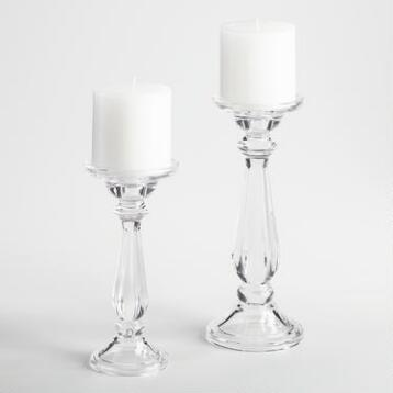 Clear Glass Addison Pillar Candleholder