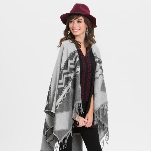 Light Gray Chevron Wrap