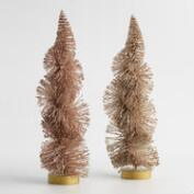 Bottlebrush Twist Trees Set of 2