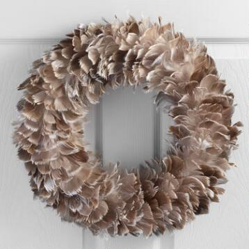 Feather Wreath with Glitter