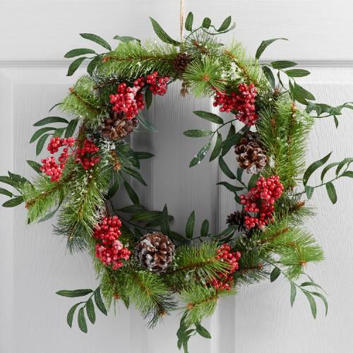 Alpine Berry and Pinecone Wreath