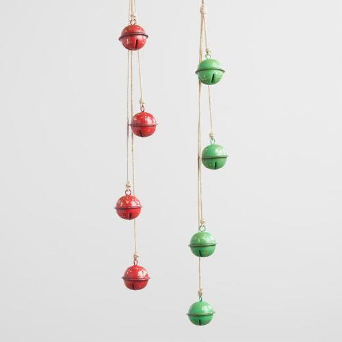 Iron Sleigh Bells Hanging Decor Set of 2