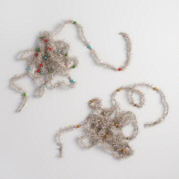 Retro Tinsel Garlands Set of 2