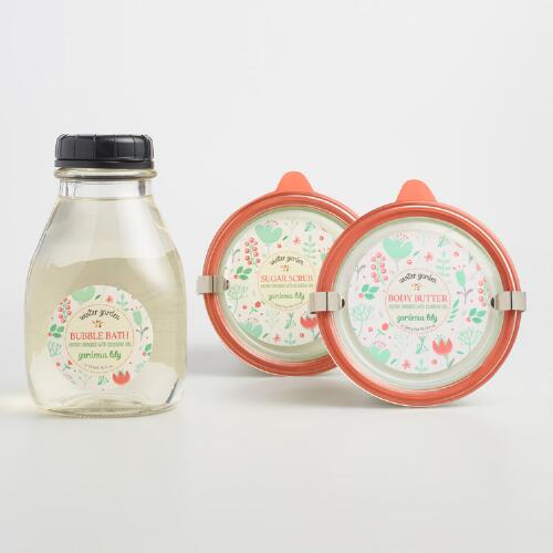 Winter Garden Lily and Gardenia Bath and Body Collection