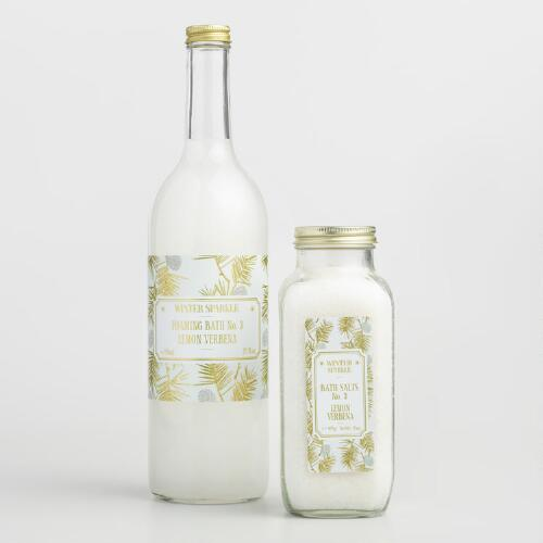 Winter Sparkle Lemon Verbena Bath Collection