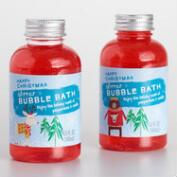 Happy Christmas Peppermint and Vanilla Bubble Bath Set of 2