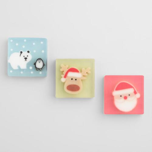 Glycerin Holiday Soaps Set of 3