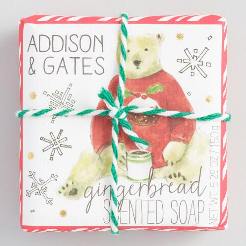 A&G Polar Bear Gingerbread Bar Soap Set of 2